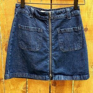| Madewell | Zip Front Denim Skirt